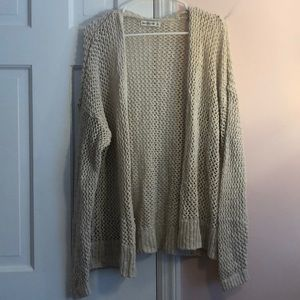 Abercrombie & Fitch fishnet cardigan